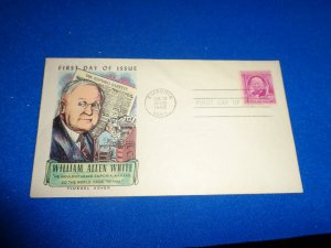 FLEUGEL MULTI COLORED CACHET FDC:  US SCOTT#  960