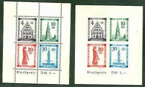 GERMANY #5NB8acb Mint NH Souvenir Sheets perf & imperf