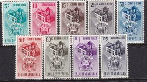 Venezuela 1953-1954 SC C464-C472 Mint Set