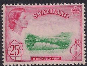 Swaziland 1961 QE2 25ct Highveld View Umm SG 86 ( M133 )