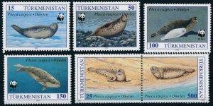 Turkmenistan MNH 34-8 Seals WWF Marine Life 1993