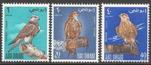 Abu Dhabi 1965 Falcon Bird set Sc# 12-14 NH
