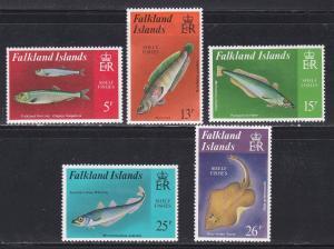 Falkland Islands # 334-338, Marine Life, Hinged, 1/3 Cat.