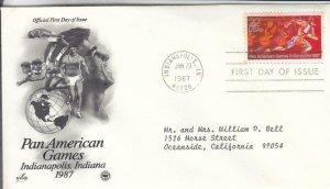 1987, Pan-American Games, Artcraft/PCS, FDC (E8585)