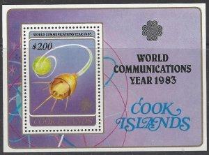 Cook Islands 748  MNH ITU World Communications Year 1983