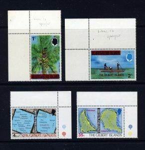 GILBERT ISLANDS Queen Elizabeth II 1976 First Issues SG 1 to SG 4 MNH