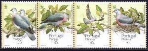 Madeira. 1991. 143-46. Birds. MNH.