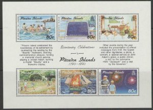 1991 Pitcairn Islands 371-376/B14 Ships with sails 18,00 €