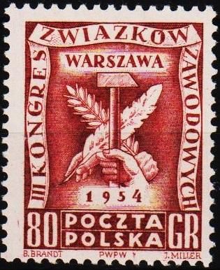 Poland. 1954 80g S.G.855 Unmounted Mint
