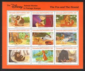 GRENADA -Disney THE FOX AND THE HOUND -VF NH 9 Stamps