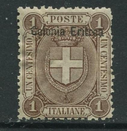 STAMP STATION PERTH Eritrea #12 Arms Overprint1895 MH CV$23.00