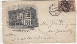 USA 1893 Illustrated Hotel Iroquois Buffalo To New York City  J3102