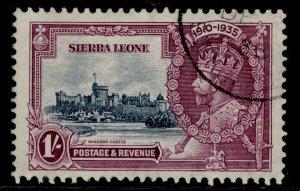 SIERRA LEONE GV SG184, 1s slate & purple, FINE USED. Cat £25.