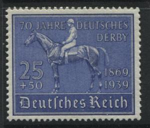 Germany 1939 25 & 50pf Deutsches Derby ultra unmounted mint NH