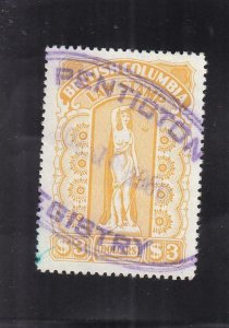 Canada: British Columbia: Law Tax Stamp, Van Damme #BCL55, Used (37022)