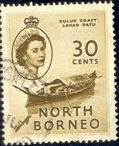 Suluk Craft, North Borneo stamp SC#270 used