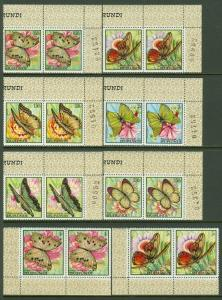 EDW1949SELL : BURUNDI 1968 Scott #240-55 Butterflies. 2 sets. VF MNH. Cat $122.