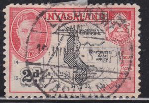 Nyasaland Protectorate 71 Map of Nysasland 1945