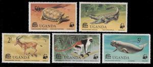 Uganda 176 - 180 MNH