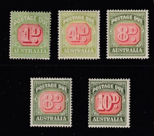 Australia x 5 Post Dues unsorted all mint