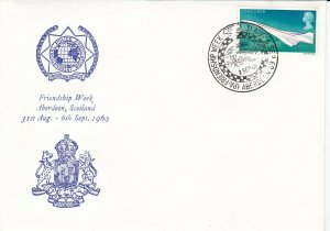 GBP109) GB 1969, cover & cancel Commemoration of International Police Associ