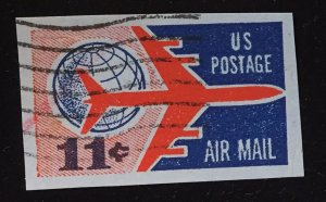 UC35 Used Airmail Cutout 11c