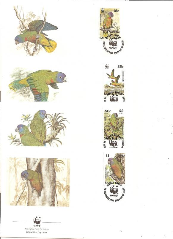 Saint Lucia SC 902-5  First Day Covers