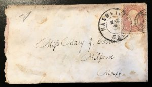 64 on a small envelope, lovely old piece, Vic's Stamp Stash