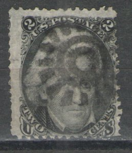 US 1863 Sc# 73 Used G/VG with nice Fancy Cancel