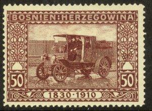 BOSNIA AND HERZEGOVINA 191 50h TRUCK Franz Joseph Birthday Jubilee Sc 58 MH