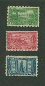 United States Postage Stamps #617-619 MH OG F/VF