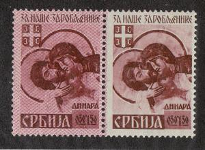 Serbia  Pair (Scott #2NB7 &11) MNH