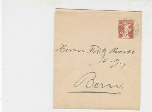Switzerland 1919 Affoltern Cancels Stamps Newspaper Wrapper to Bern Ref 25823