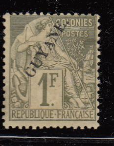 French Guiana 30 Cer 28 MH F/VF 1892 SCV $250.00