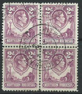 Northern Rhodesia  SG 33 VFU Block x 4