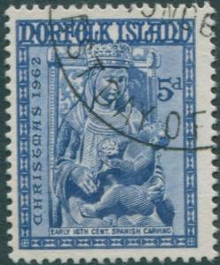 Norfolk Island 1962 SG49 5d blue Christmas FU