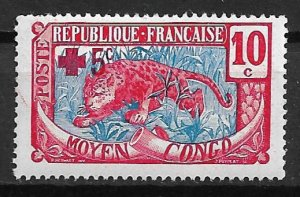 1916 Middle Congo B2 Red Cross MNH