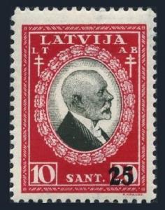 Latvia B78,MNH.Michel 185. Janis Cakste,1st President.Surcharged,1931.