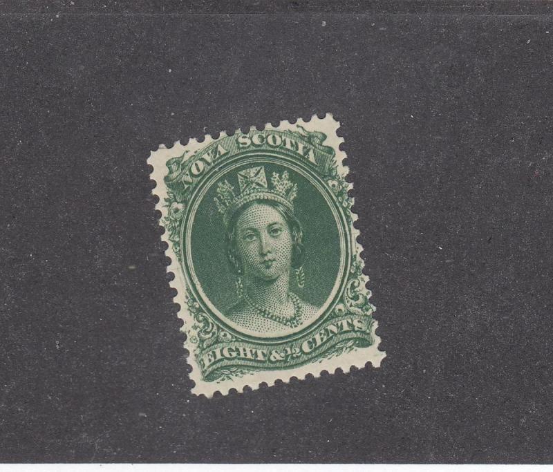 NOVA SCOTIA REF# KM5 # 11 VF-MH 81/2cts  VICTORIA GREEN CAT VALUE $20