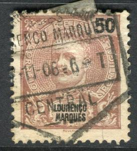 PORTUGUESE LOURENCO MARQUES; 1898 early Carlos issue used 50r. Postmark