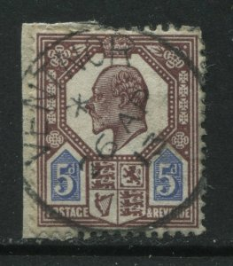 GB KEVII 5d Somerset printing with perfect April 26th 1913 Ventnor CDS