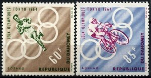 1964 Dahomey 239-240 1964 Olympic Games in Tokio 5,00 €