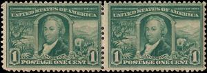 323 Mint,OG,NH... Pair... SCV $120.00