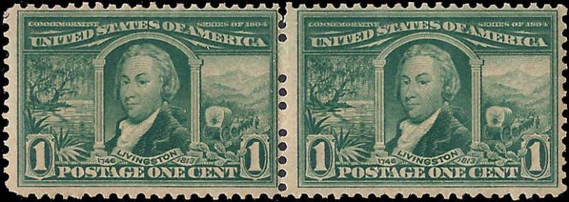 323 Mint,OG,NH... Pair... SCV $120.00
