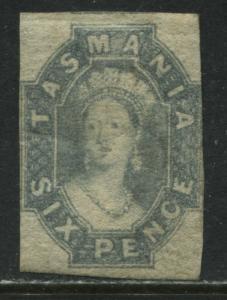 Tasmania QV 1865 6d blue gray mint o.g.