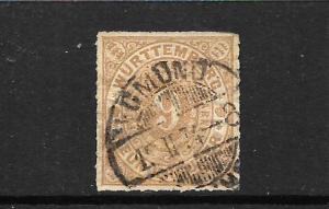 WURTTEMBURG  1869-73  9k  BISTRE   FU     SG 80   CV 65pds
