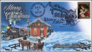 18-349, 2018, Christmas, Pictorial Postmark, Event Cover, Farmingdale NJ