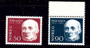 Norway 439-40 MH 1963 Ivar Aasen