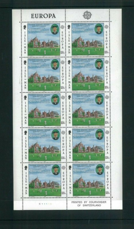 Isle of Man (GB) 174-75 1980 Europa. 55 Sheets of 10 @6.00 Cat.330.00. Wholesale