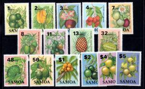Samoa 1983 Fruits Plants mint MNH set SG647-665 WS11344